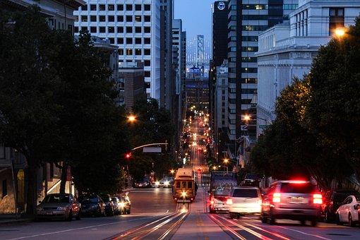 San Francisco, Streets, City Lights, Urban, Bay, Travel
