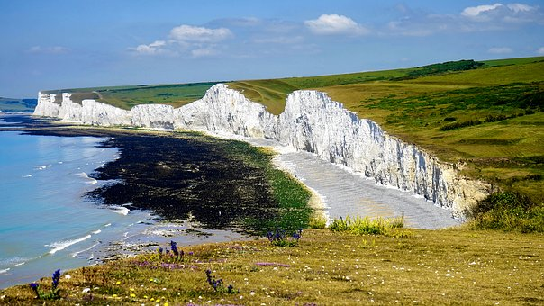 Cliff, Landscape, Rock, Sky, Summer, Blue, Sea, Nature
