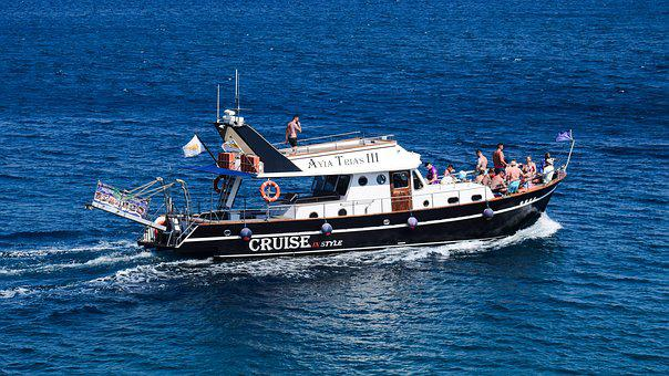 Cruise Boat, Tourism, Vacations, Sea, Summer, Cyprus