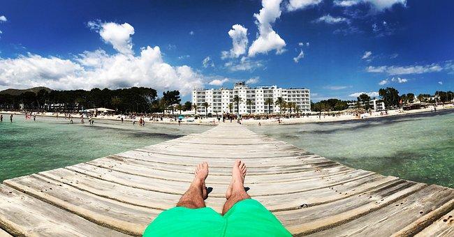 Summer, Sun, Clouds, Sky, Parasol, Beach, Holiday