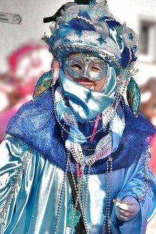 Celebrate, Carnival, Move, Colorful, Blue, Mask, Color