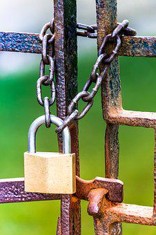 Locked, Secure, Chain, Security, Lock, Protection