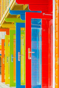 Colour, Doors, Paint, New, Building, Colorful, Entrance