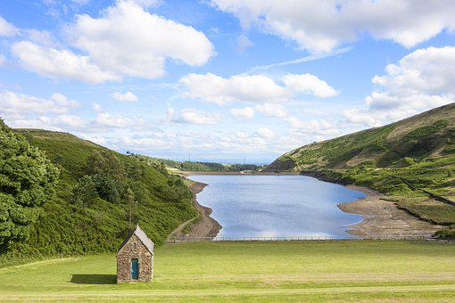 Countryside, Reservoir, Landscape, Water, Nature, Sky