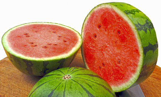 Melon Water Melon, Crushed, Pulp, Delicious, Healthy