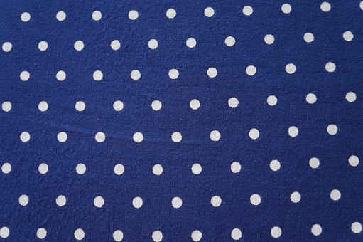 Texture, Blue, Weis, Background, Fabric, Points