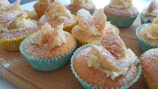 Buns, Cakes, Fairy Cakes, Sweet, Icing, Party, Homemade