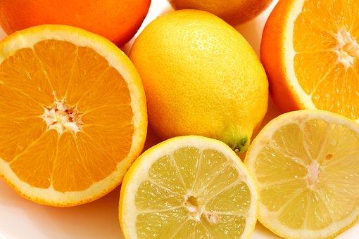 Fruit, Oranges, Lemons, Eat, Yellow, Orange
