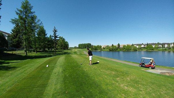 Golf, Water, Course, Sport, Green, Grass, Outdoor