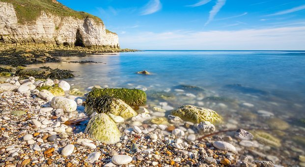 Seascape, Spring, Coast, Sunny, Sea, Nature, Beach