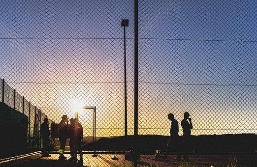 Sunset, Curling, Sport, Evening, Afterglow, Sun, Sky