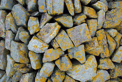 Stones, Weave, Structure, Yellow Green, Fouling