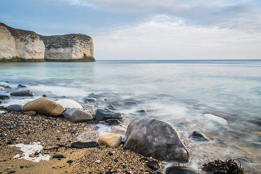 Seascape, Bay, Cover, Erosion, Pebbles, Cliffs, Chalk
