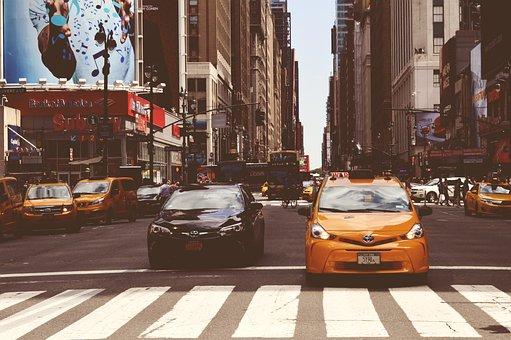 Nyc, Taxi, Street, City, New, York, Urban, Usa