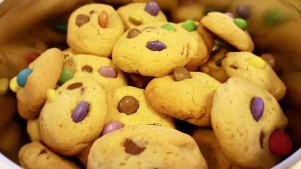 Cookies, Smarties, Chocolate Chip, Pastry, Kid, Food