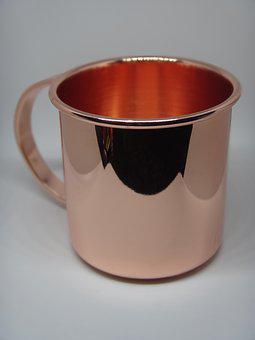 Cup, Copper, Mirror, Red, Moscow Mule, Gint Tonic