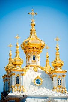 Peterhof, Dome, St Petersburg Russia, Church