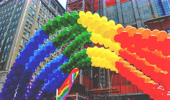 Pride, Gay, Nyc, New York City, Flag, Rainbow