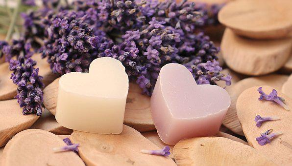 Lavender, Heart, Wood, Soap Heart, Greeting Card, Love
