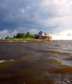 Fort, Kronshlot, Fortress, Fortification, Seascape, Sea