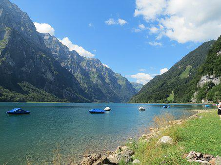 Mountain Lake, Lake Klöntal, Lake, Trip Point