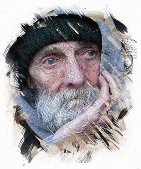 Portrait, Human, Homeless, Man, Male, Road, Person