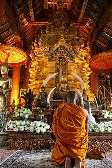 Measure, Monks, Thailand, Buddhism, Religion