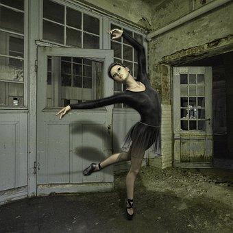Woman, Dancer, Ballet, Leave, Girl, Dance, Movement