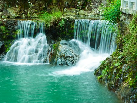 Falls, Zhai Liao Creek Falls, Running Water, Brooks