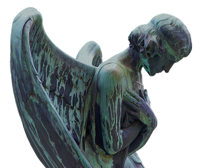 Mourning, Angel, Sculpture, Cemetery, Figure