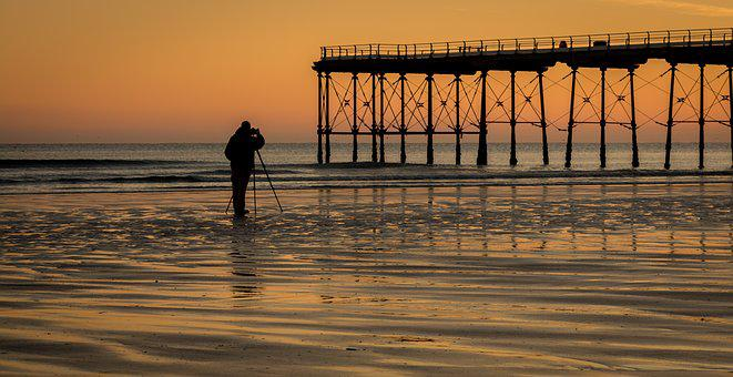 Photographer, Tripod, Seascape, Camera, Photo