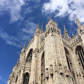 Church, Italian, Sky, Blue, Italy, Europe, Travel