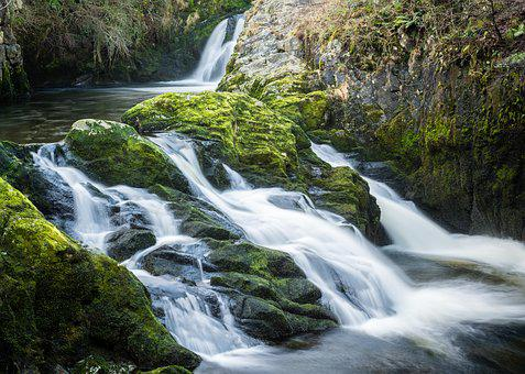Ingleton, Waterfall, Trail, Yorkshire, Water, Nature