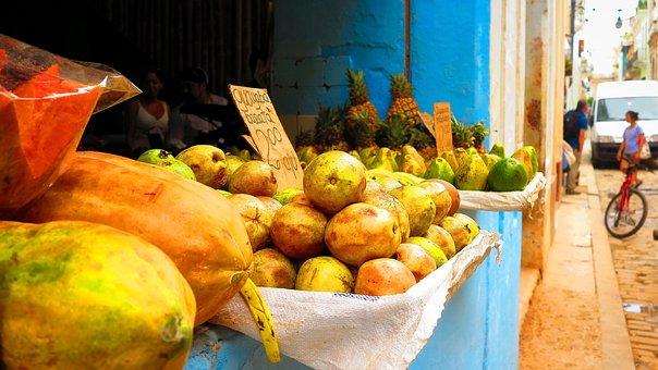 Fruit, Papaya, Kiwi, Exotica, Cuba, Wow, View
