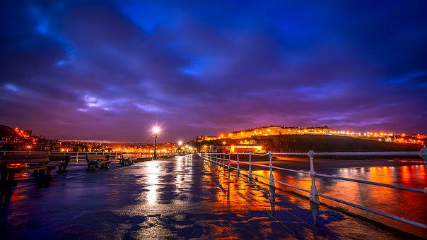 Blue Hour, Whitby, North Yorkshire, West Pier