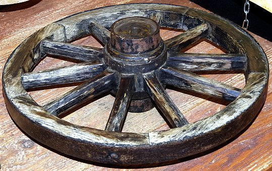 Wheel, Car, Wooden, Spokes, Old, Kolesnik, Wood