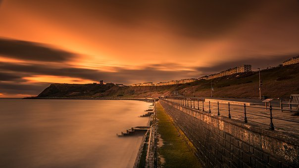 Long Exposure, Scarborough, Yorkshire, Dodge And Burn