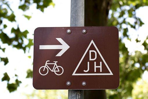 Djh, Youth Hostel, German Youth Hostel, Bike, Shield