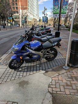 Bikes, Summer Street, Motor Bikes, Parking