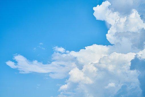 Cloud, Blue, Nature, Landscape, Clouds, White