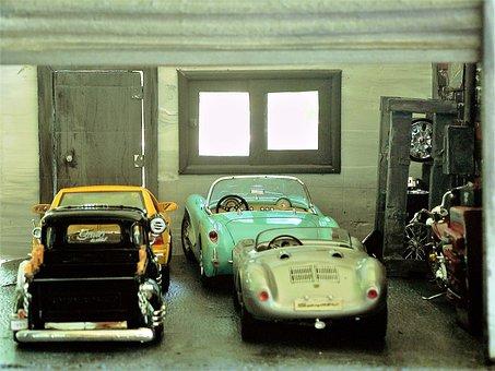 Diorama, Cars, A, Colorful, Design, Display, Garage
