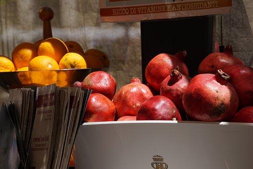 Orange, Pomegranate, Vitamins, Fruit, Food