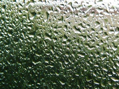 Glass Wet, Drops, Rain, Raining