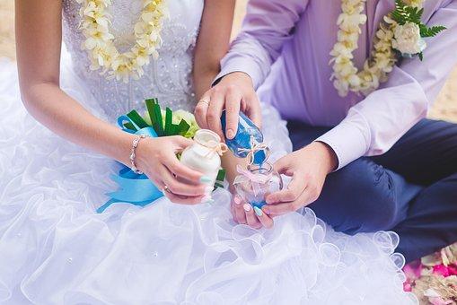 Wedding, Ceremony, Sand, Journey, Bridesmaid Dress