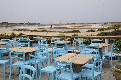 Salt Pans, Sicily, Windmill, Evaporation, Marsala