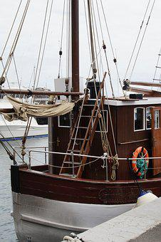 Shrimp, Fischer, Fishing Boat, Sea, Ocean