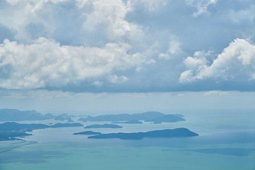 Ada, Blue, Ocean, Sky, Coastline, Background, Nature