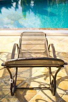 Sunbeds, Pool, Swim, Relax, Luxury, Hotel, Summer