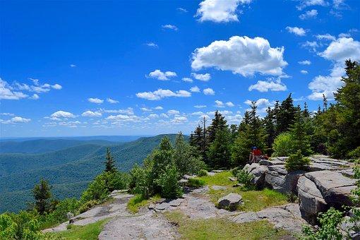 Mountain, Sky, Blue, Sunshine, Nature, Landscape