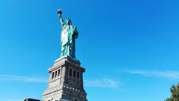 New York, Statue, United States, Manhattan, Freedom